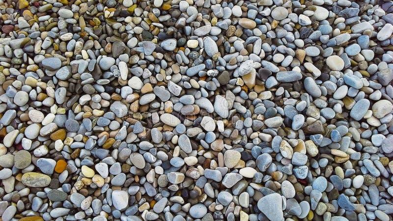 Kiesel auf dem Strand als Hintergrund stockfotos