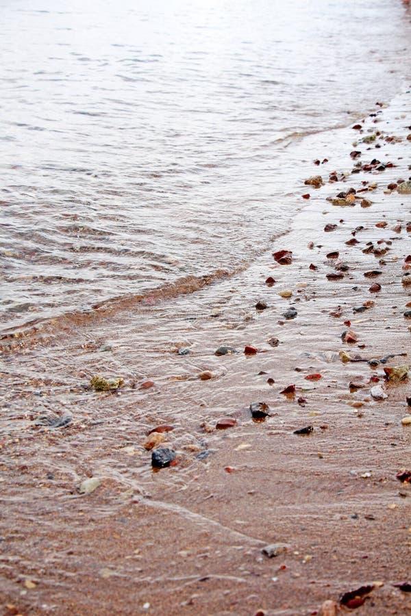 Kiesel im seichten Wasser im Roten Meer in Elat, Israel stockfotos