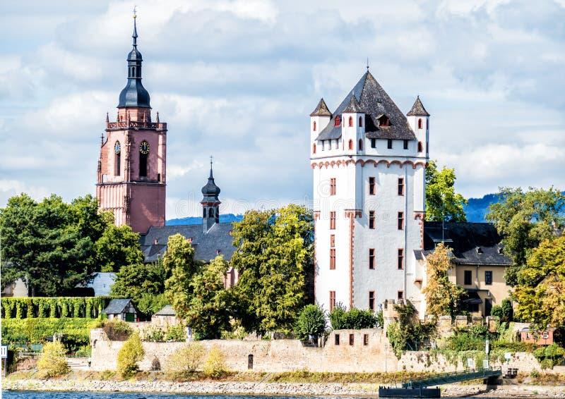 Kieskasteel in Eltville, Duitsland royalty-vrije stock fotografie