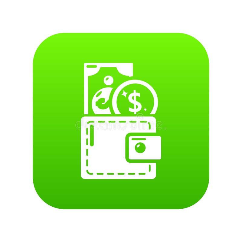 Kiesy ikony zieleni wektor ilustracji