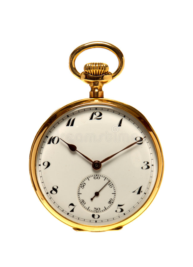 kieszeni antique zegarka pojedynczy stary white zdjęcia stock