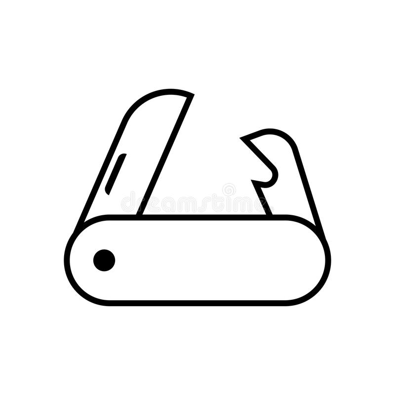 Kieszeniowego noża wektoru ikona ilustracja wektor