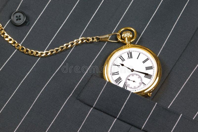kieszeniowy kamizelkowy zegarek zdjęcie royalty free