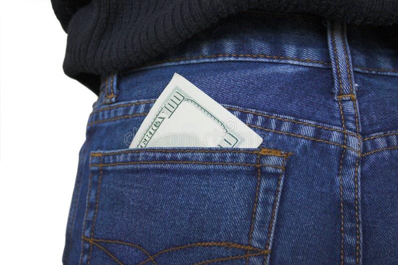 Kieszeniowy pieniądze. zdjęcia royalty free