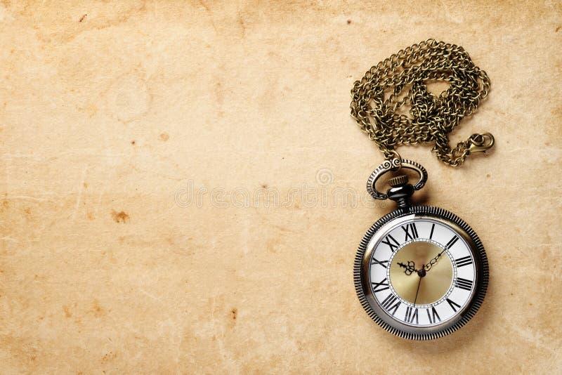 Kieszeniowy rocznika zegarek fotografia royalty free