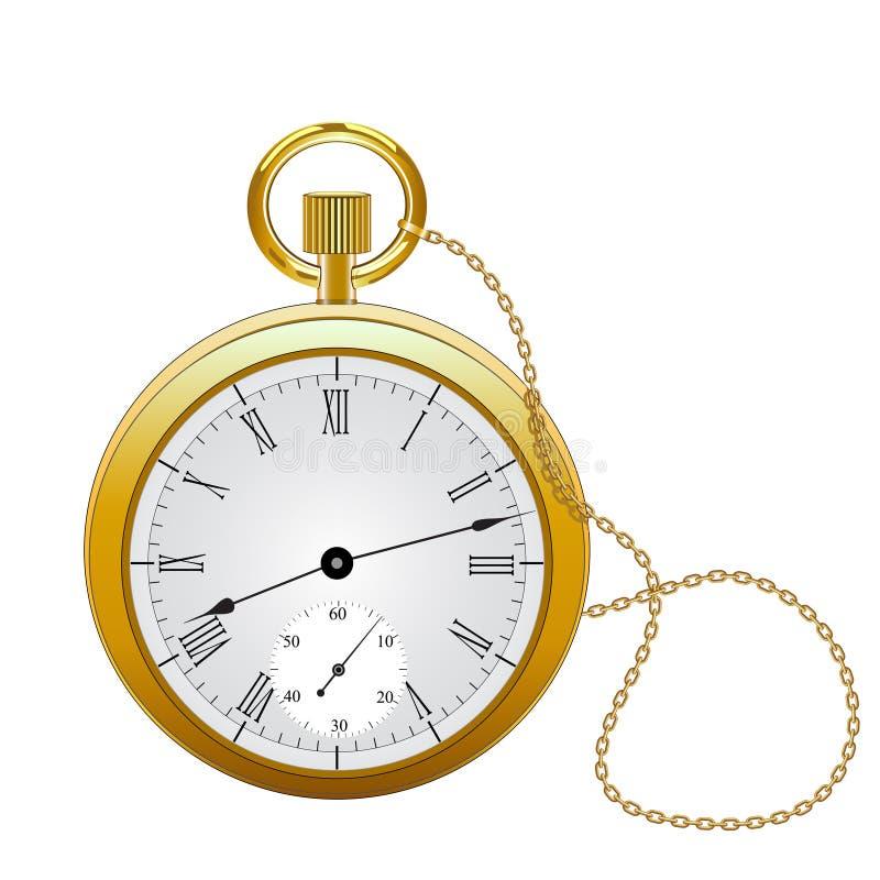 kieszeniowy zegarek royalty ilustracja