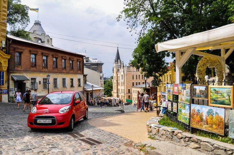 kiev улица спуск стоковое фото