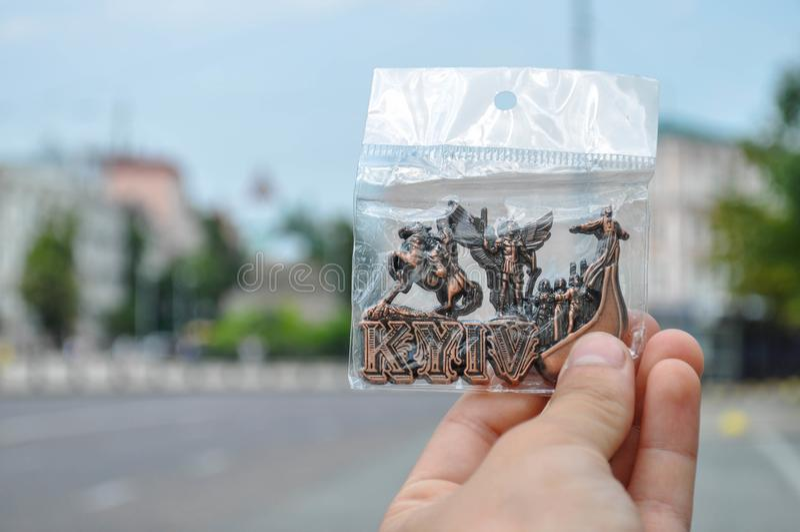 kiev улица центр стоковая фотография
