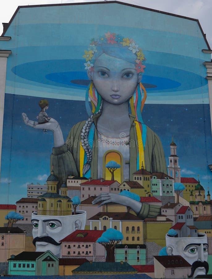 kiev улица graffiti стоковая фотография
