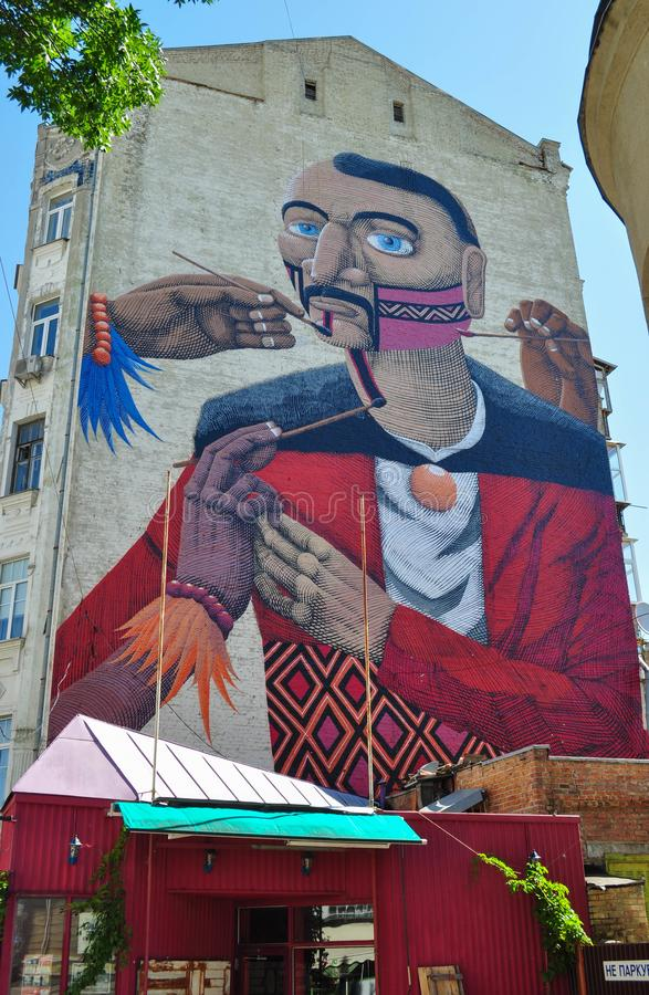 kiev улица graffiti стоковые изображения rf