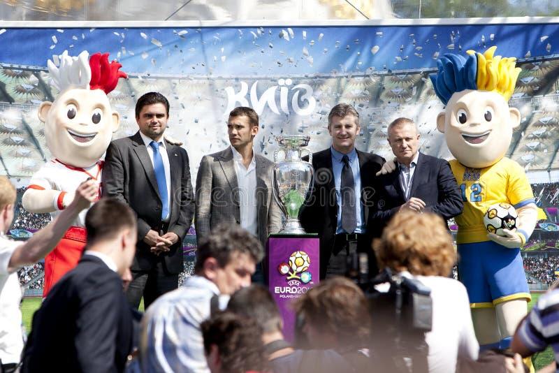 KIEV, 11 DE MAYO: La UEFA ahueca imagen de archivo libre de regalías