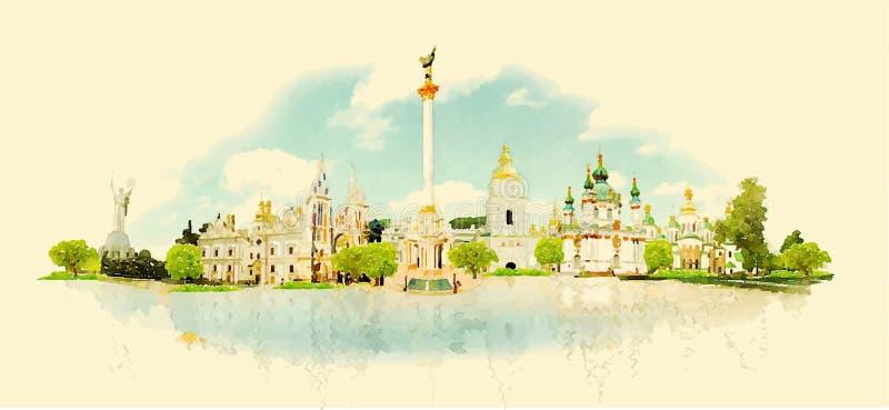 kiev ilustração do vetor