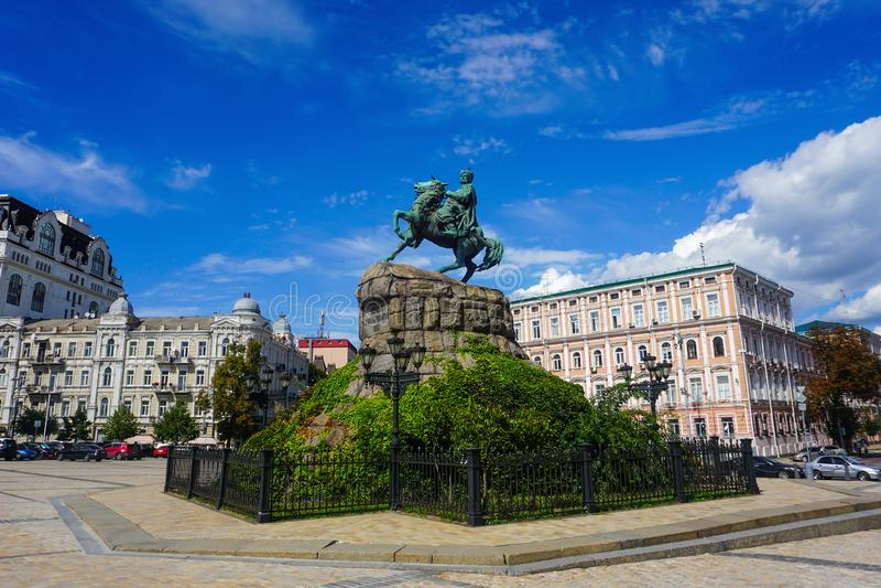 Kiev Bohdan Khmelnytsky Monument stock image