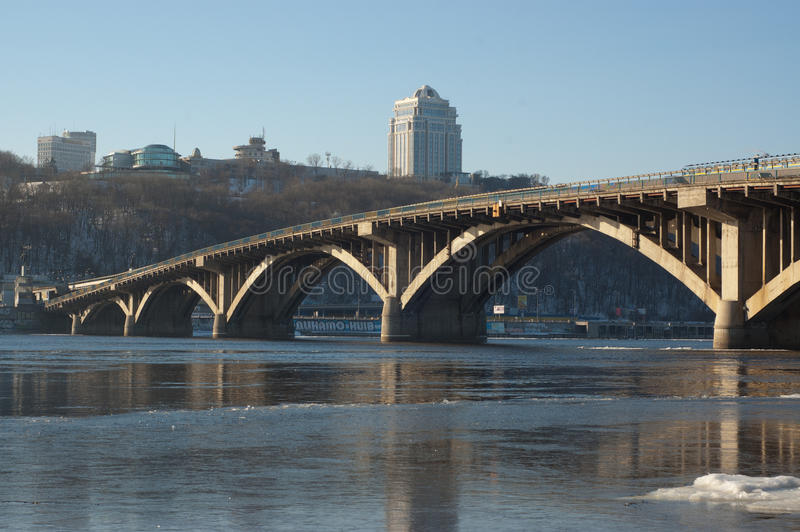 Kiev bridge stock images