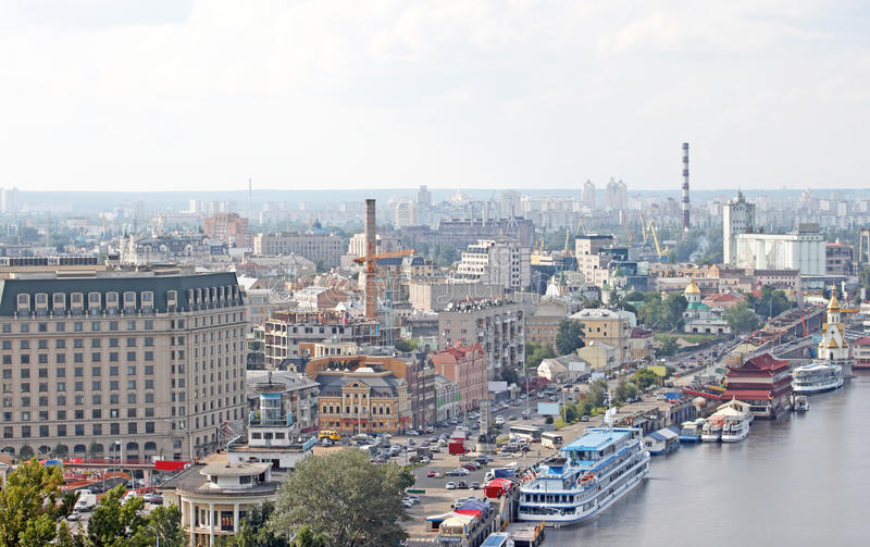 Kiev: business and industry city stock images