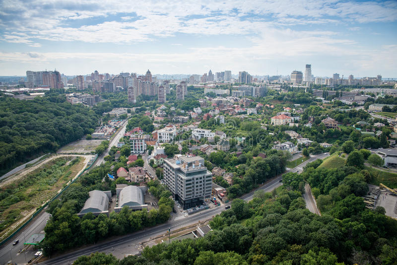 Kiev the capital of Ukraine. Top view royalty free stock images
