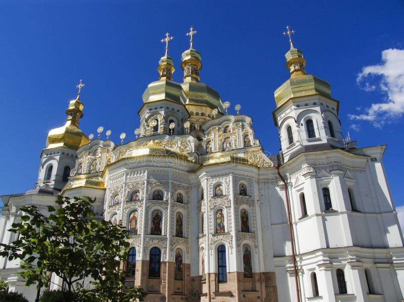 Kiev, catedral grande de Uspenski imagens de stock