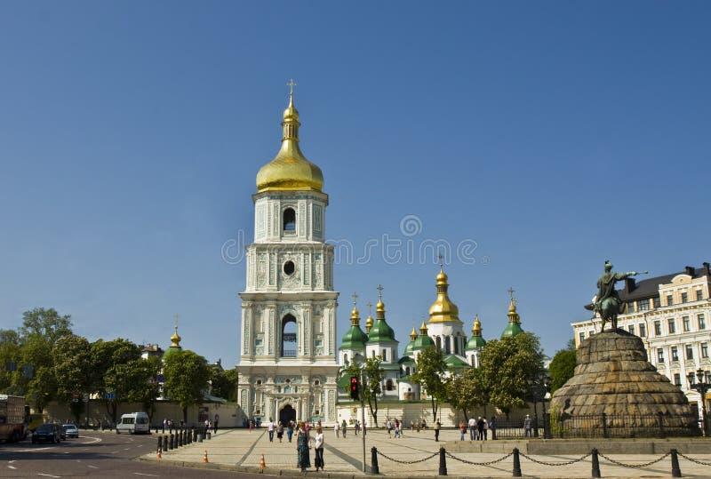 Kiev, cathédrale de Sofiyskiy (rue Sofiya) image libre de droits
