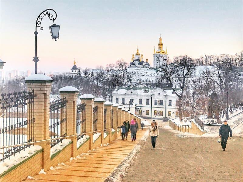 Kiev cava igrejas de Monastry imagem de stock