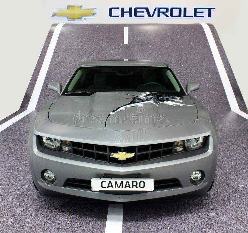 Kiev, de Oekraïne; 10 april, 2014 Chevrolet Camaro SS stock foto