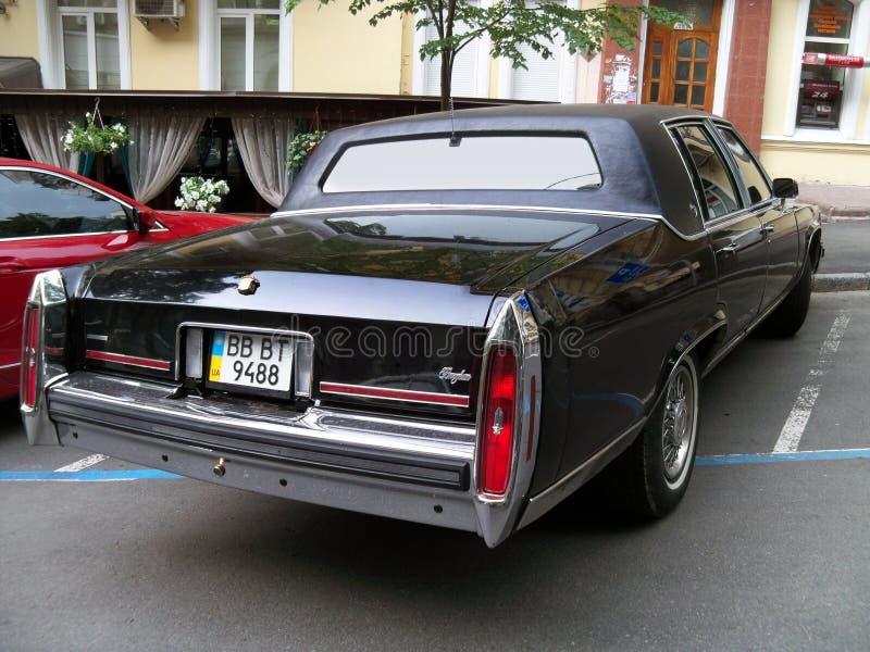 Kiev - de Oekraïne 12 Juni 2011 Cadillac-Brougham royalty-vrije stock fotografie