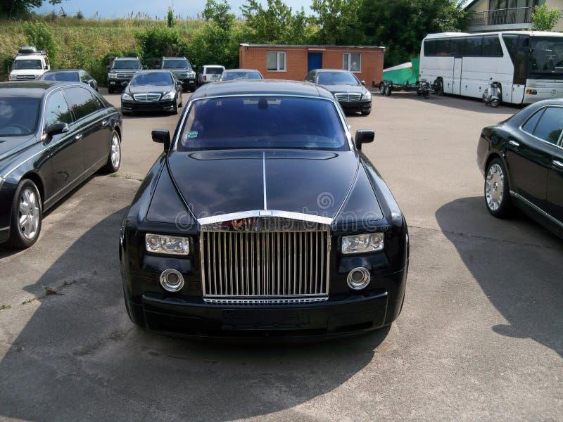 Kiev - de Oekraïne 12 Juni 2011 Rolls-Royce Phantom EWB royalty-vrije stock fotografie