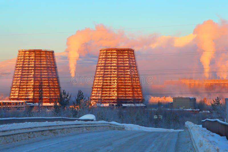 Kiev, de Oekraïne Levering en productie Industriële zaken Smo stock fotografie
