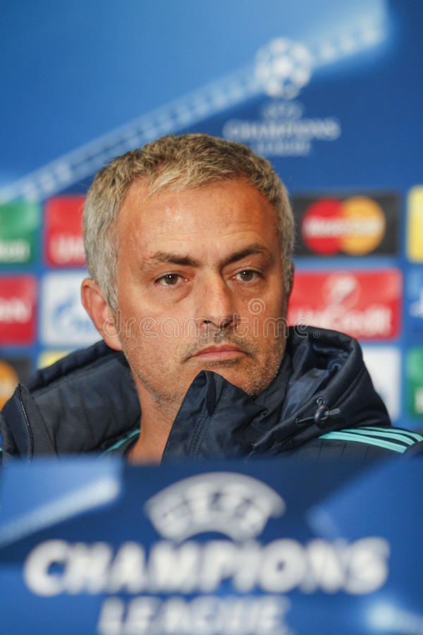 KIEV, DE OEKRAÏNE - OCT 20: Jose Mourinho royalty-vrije stock afbeeldingen