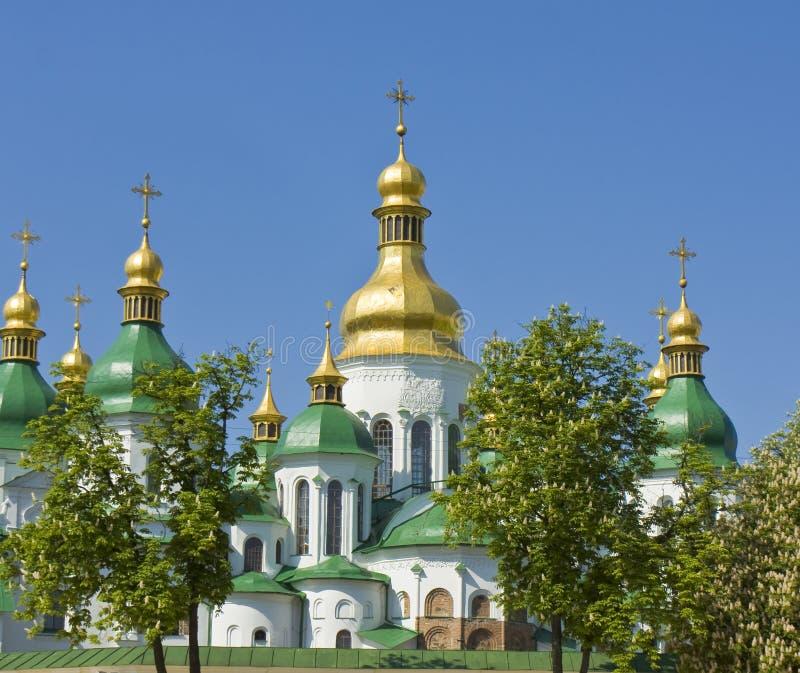 Kiev domkyrka av St. Sofiya royaltyfri foto