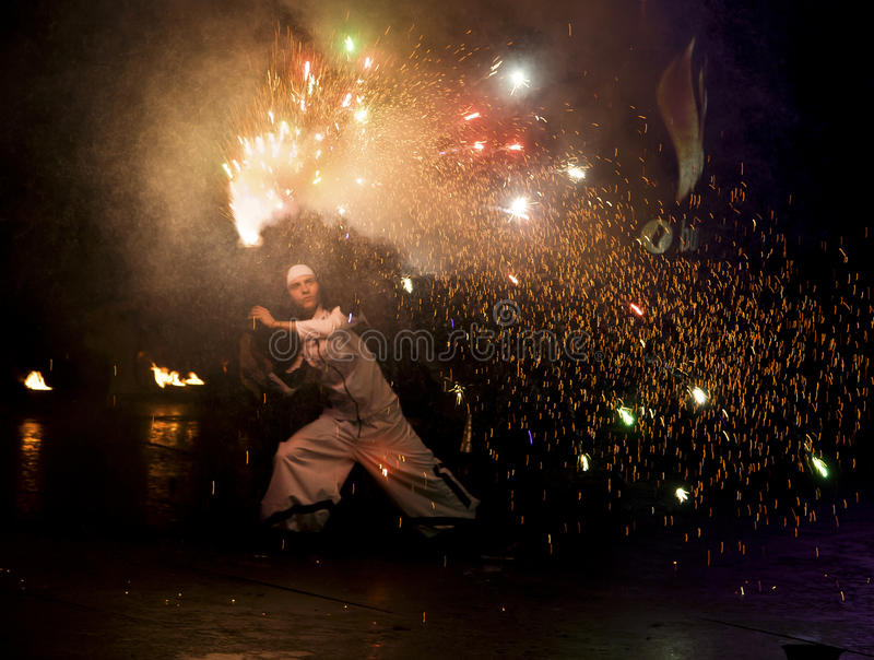 Download Kiev Fire Fest 2011 editorial photography. Image of pyrotechnics - 19932402