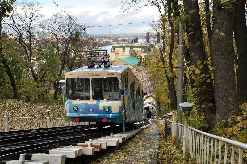 Kiev funicular imagen de archivo libre de regalías