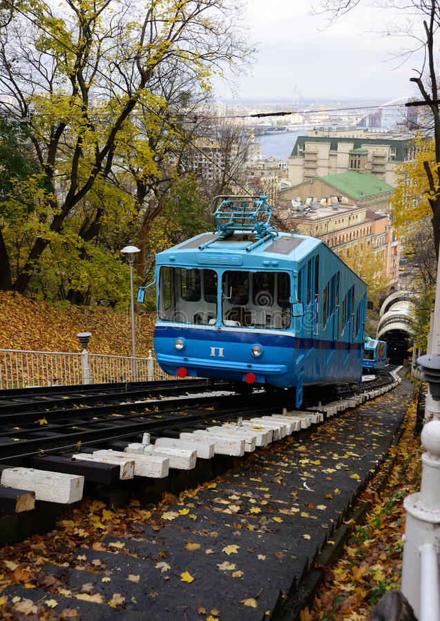 Download Kiev funicular railway stock image. Image of cityscape - 27515481