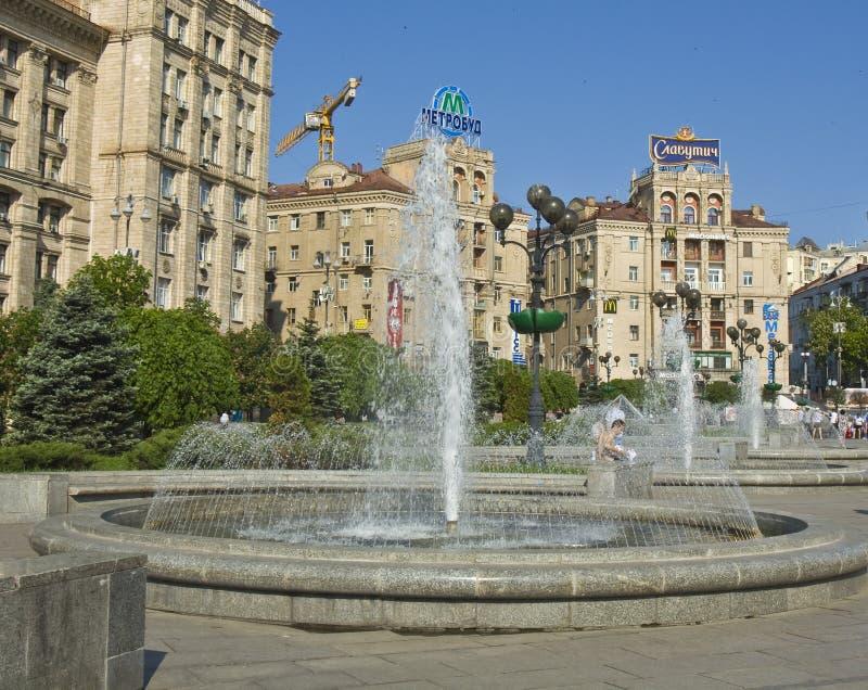 Kiev, grand dos de l'indépendance photos libres de droits
