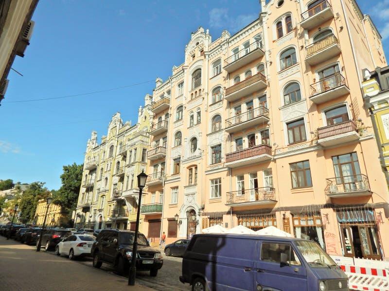kiev Hus på den Vladimirskaya gatan arkivbilder
