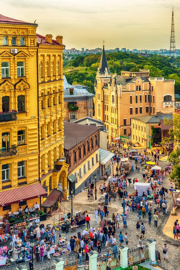 Kiev or Kiyv, Ukraine: the city center. In the summer royalty free stock images