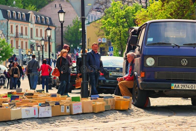 KIEV KYIV, UKRAINE – 01 MAY, 2017: Andriyivskyy Uzvoz Desce royalty free stock image
