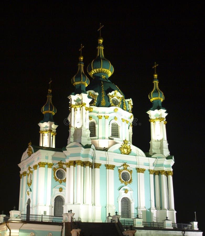 kiev l'ucraina Chiesa del ` s di St Andrew immagini stock