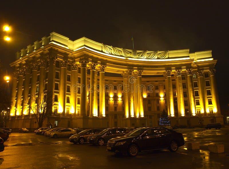 kiev l'ucraina Vista di notte immagini stock