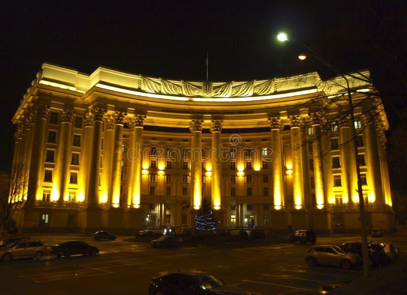 kiev l'ucraina Vista di notte fotografia stock