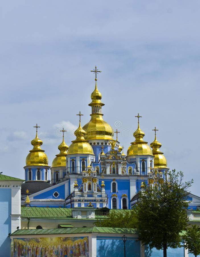 kiev mihaylovskiy kloster ukraine arkivfoton