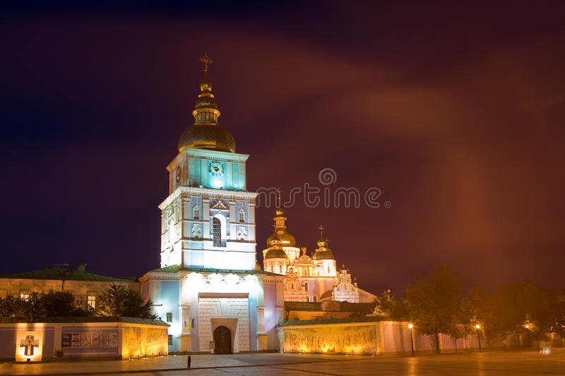 Download Kiev Mikh Night hor stock image. Image of gold, dome - 12243581