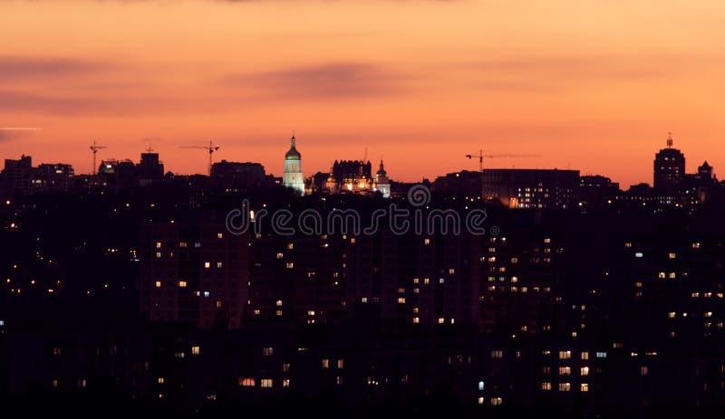 kiev night στοκ εικόνες