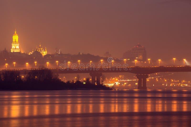 Kiev at night royalty free stock photo