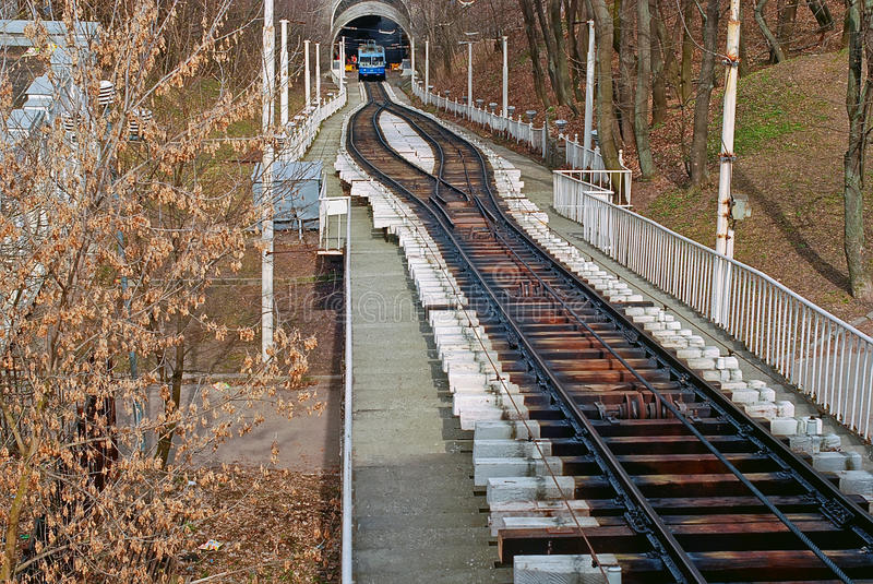 Download Kiev old cable-railway stock photo. Image of hill, autumn - 14858642