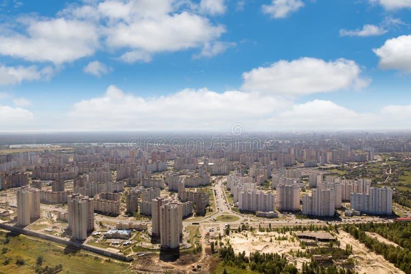Kiev, paesaggio urbano di estate di capitale ucraina immagini stock libere da diritti