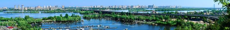 kiev panorama ukraine royaltyfri foto