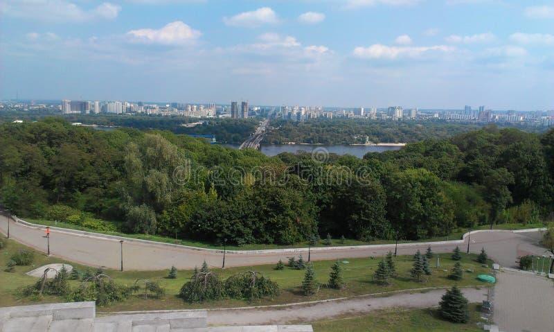 Kiev, parque da glória! Vistas bonitas da cidade fotos de stock royalty free