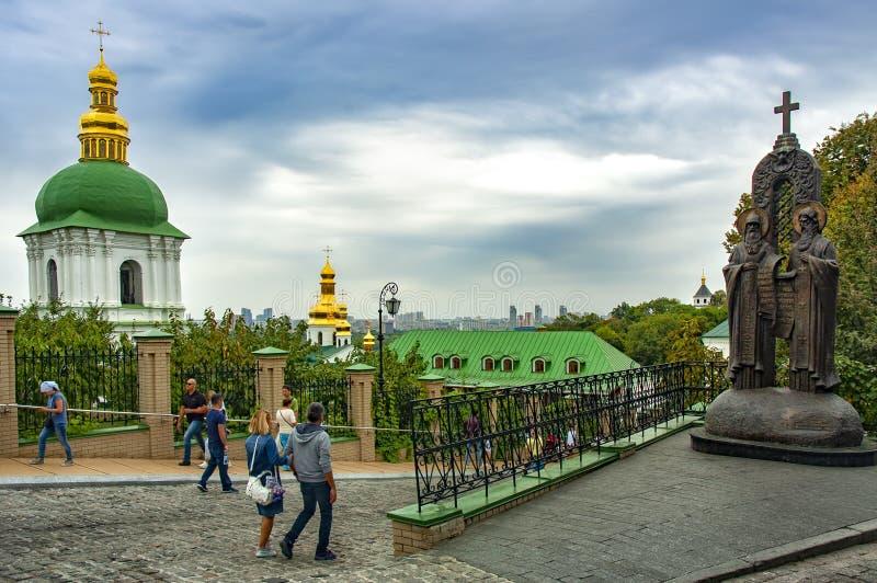 Kiev Pechersk Lavra eller Kyiv Pechersk Lavra arkivfoto