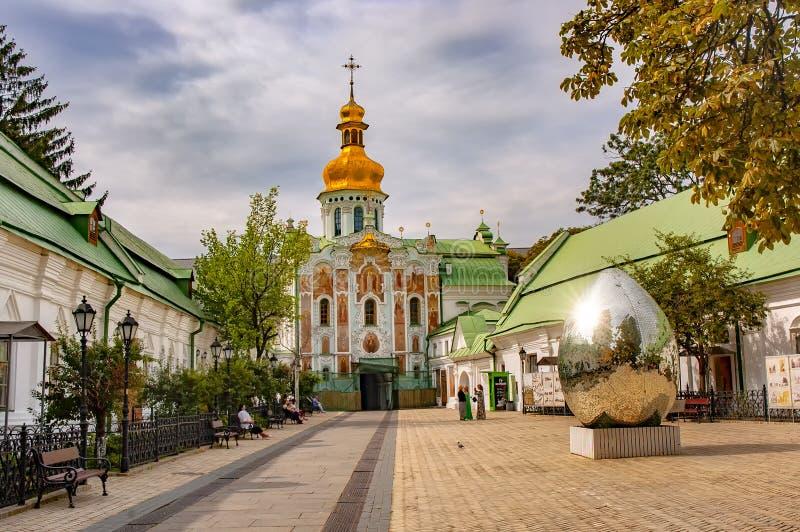 Kiev Pechersk Lavra eller Kyiv Pechersk Lavra royaltyfri foto