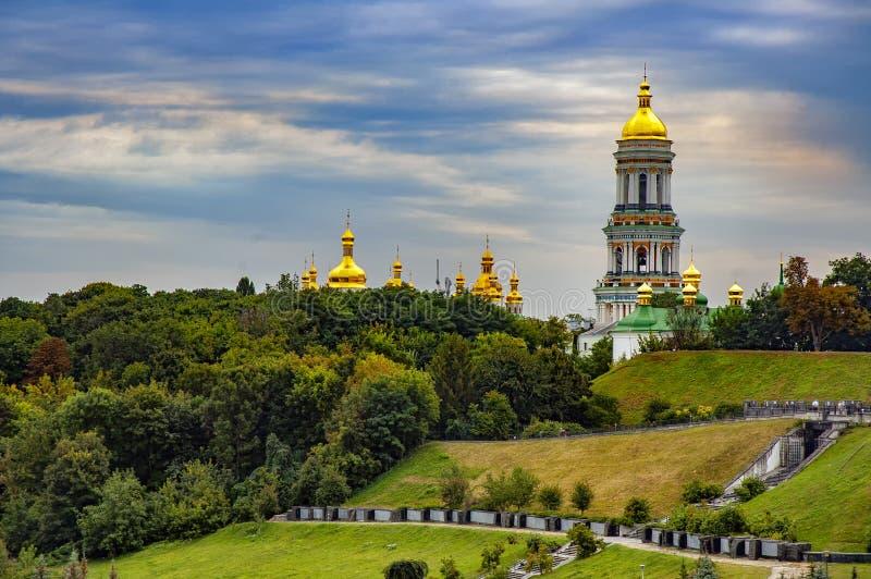 Kiev Pechersk Lavra eller Kyiv Pechersk Lavra arkivbilder
